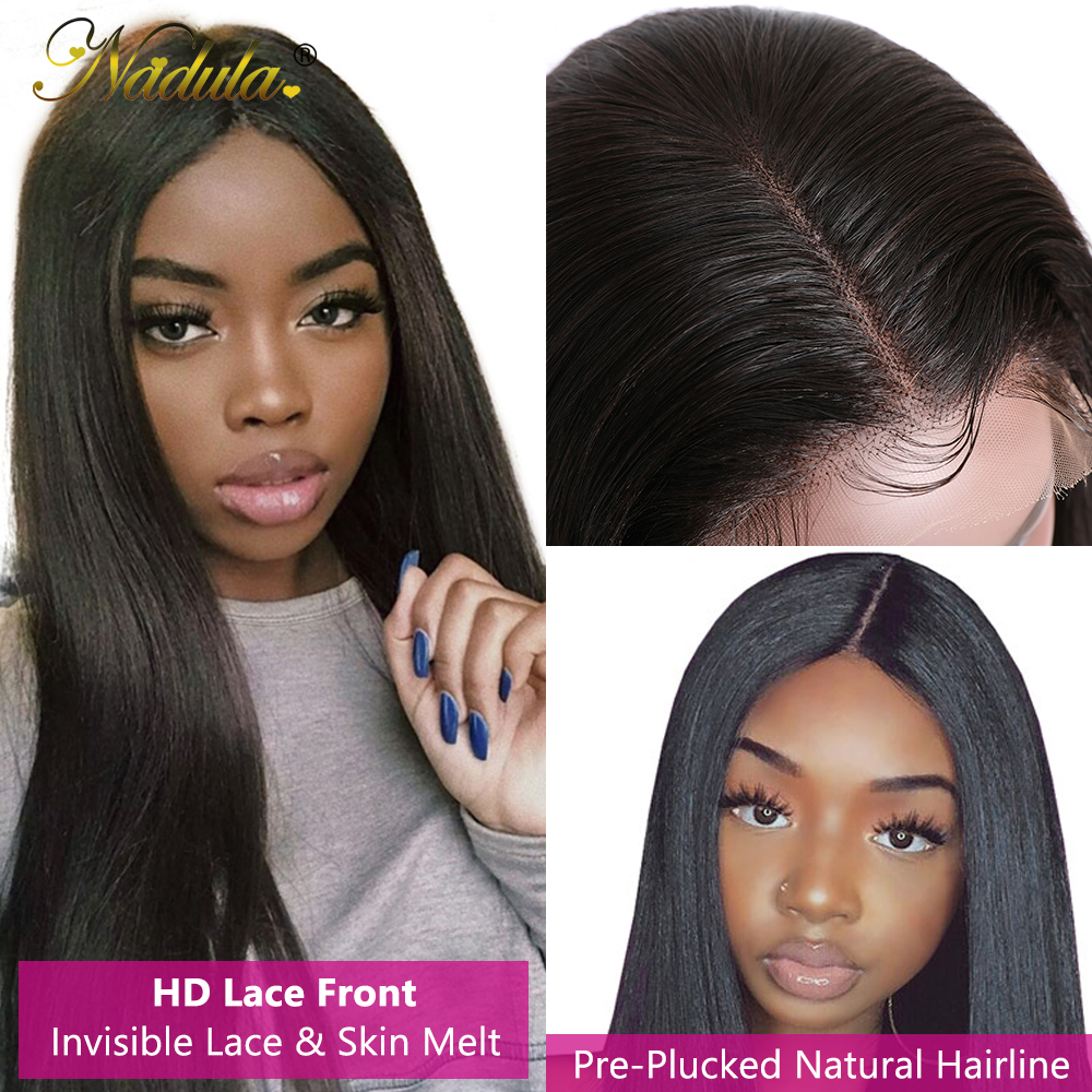 Nadula Hair 5x5 HD Lace Front  Wigs for Black Women Straight Hair HD Lace Frontal Wig brazilian Hair Full Wig 28inch 3