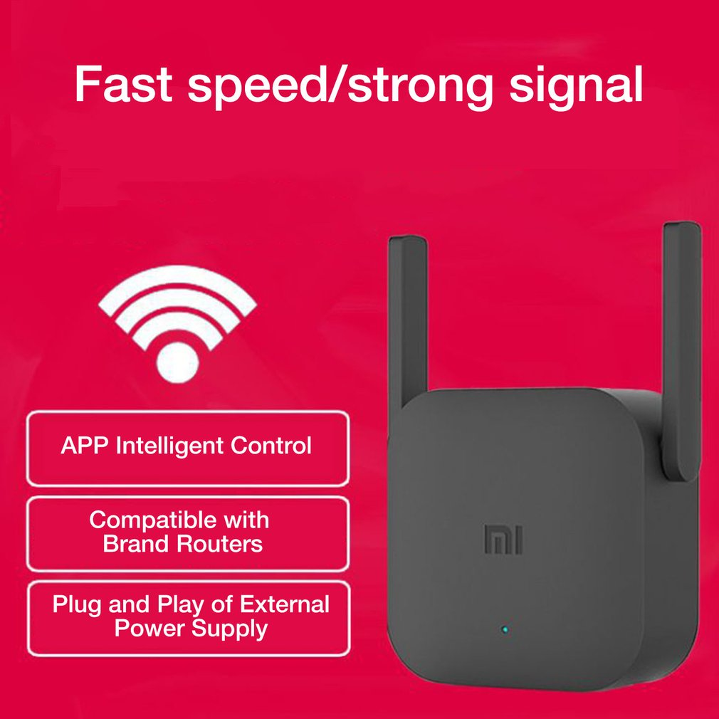 Original Xiaomi Pro 300M WiFi Router Amplifier Network Expander Repeater Power Extender Roteador 2 Antenna for Mi Router Wi-Fi Pakistan