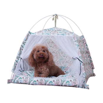 Pets Teddy Dog Kennel Small Medium-sized Dog Net Red Removable and Washable Closed Cat Kennel Four Seasons General Cat Tent