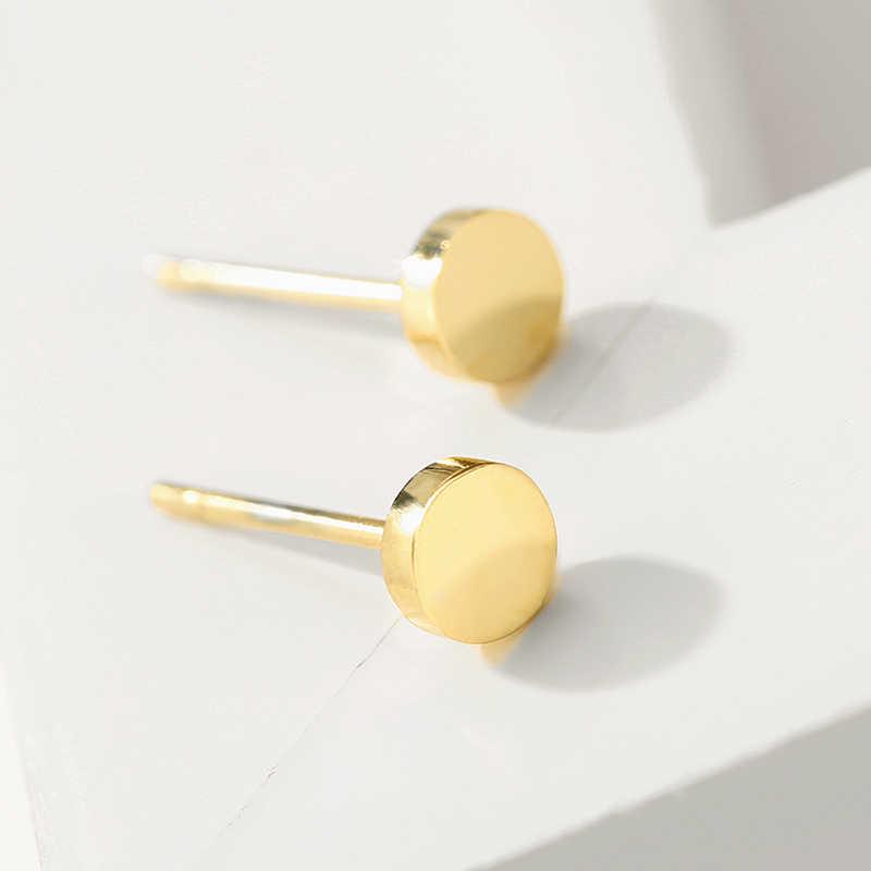 JUJIE Minimalistสแตนเลสต่างหูผู้หญิง 2020 สไตล์เกาหลีขนาดเล็กGeometric Studชุดต่างหูเครื่องประดับขายส่ง/Dropshipping