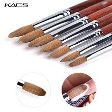 KADS – Brosse en acrylique Kolinsky pour ongle et manucure, kit d'extension d'ongle avec gel et UV, outil de constructeur, outil en acrylique sable pour ongle, nail art
