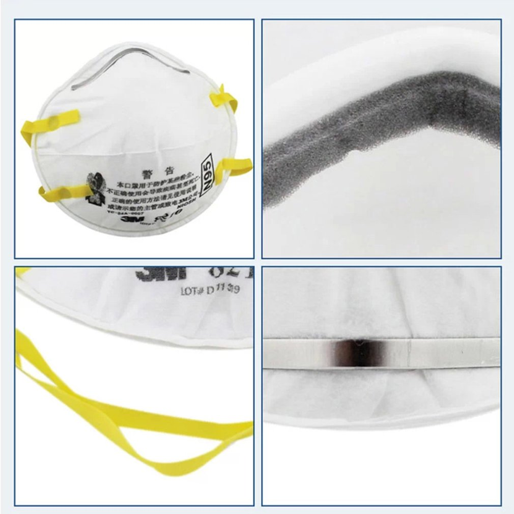 3M 8210 N95 Mask for Protection from Dust Particles and Flu with Adjustable Metal Nose Clip 4