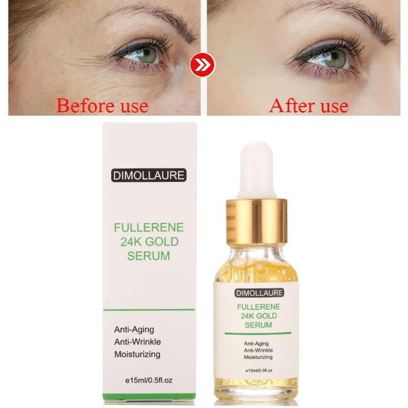 Dimollaure Fullerene 24K Gold Serum Kojic Acid Serum Vitamin C Serum Hyaluronic Acid Serum Anti-Aging Moisturizing Whitening