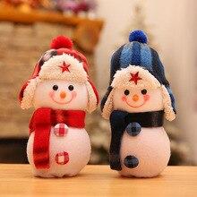 Bolsa de regalo de juguete de muñeco de nieve con bolsa de regalo de Navidad