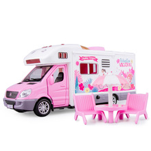 1:32 Motor Caravan Travel Car Camper Motorhome Recreational Vehicle RV Trailer Play Home Baby Toys For Boys Gifts 100