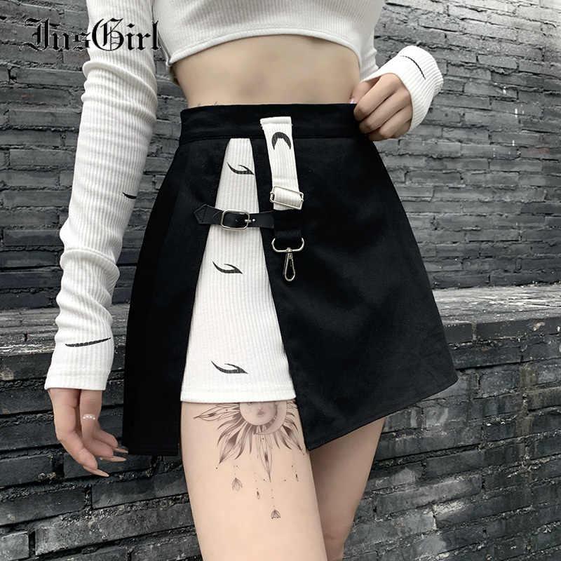 cintura alta Falda para mujer hasta la rodilla para verano Idgretim con pliegues con lazo l/ínea A