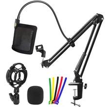 Bm 800 soporte de micrófono de Metal en forma de U de filtro Pop suspensión tijera brazo de soporte de araña montaje de choque para azul micrófono Yeti K669