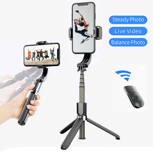 L08 Handheld Grip Stabilizer Tripod 3 in 1 Selfie Stick Handle Remote Holder Selfie Stand for all Smartphones Mini Tripods