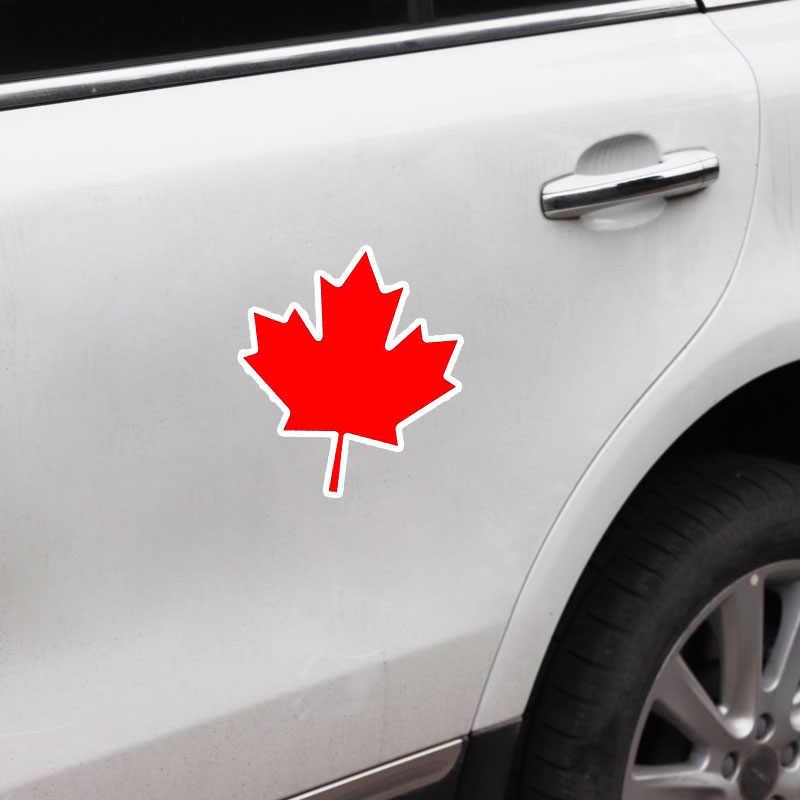 YJZT 11.7 CENTIMETRI * 13.2 CENTIMETRI di Personalità Canada Bandiera Riflettente Auto Moto Sticker Decal 6-1664