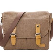 Unisex Canvas Messenger Shoulder Bag Women Totes Large Capacity Handbag Travel Men Casual