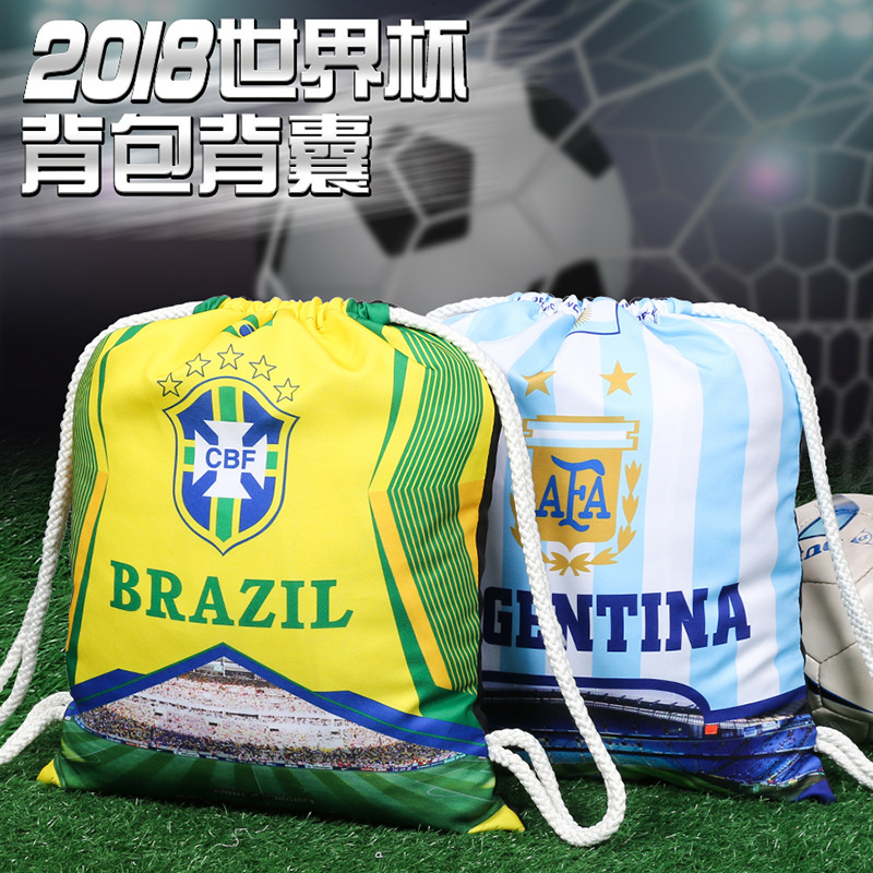 2020 Cup World Cup Football Fan Backpack Backpack Both Shoulders Package Accept Bag Beam Pocket