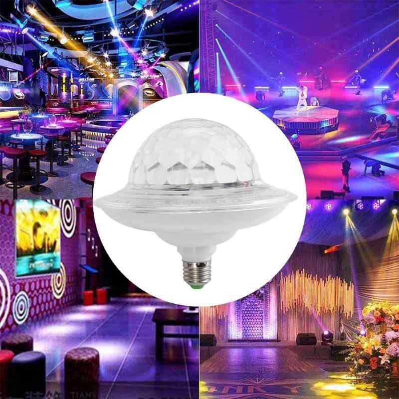 Bombilla LED E27 RGB 3W bola mágica de cristal giratoria para fiesta DJ discoteca luz colorida efecto fiesta lámpara para decoración del hogar