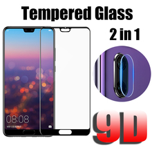 9D Tempered Glass For Huawei P20 Lite Camera Lens Film Screen Protector Full Cover Protective