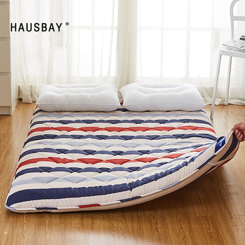 sleeping rug tatami mattress pad folded floor carpet 4cm thickness lazy bed mats double cushion for bedroom and office Full Queen Size Mattress Tatami Mat 7cm Thickness for Bedroom Sleeping on Floor Mat Folding Mats Camping Mattress Cushion MT001
