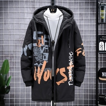 Parka Coat Jacket QUILTED 10XL Hooded Warm Men's Winter Windproof Mid-Length Casual