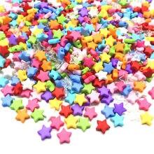 100pcs 9mm Acrílico Spacer Beads Estrela de Cinco pontas-Rainbow Color Contas Para Fazer Jóias