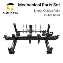 Cloudray Mechanische Teile Set 600mm * 400mm Einzigen Doppel Kopf Laser Kits Ersatzteile für DIY CO2 Laser 6040 CO2 Laser Maschine