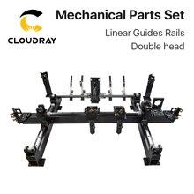 Cloudray mekanik parçalar seti 600mm * 400mm tek çift kafa lazer kitleri yedek parçaları DIY CO2 lazer 6040 CO2 lazer makinesi
