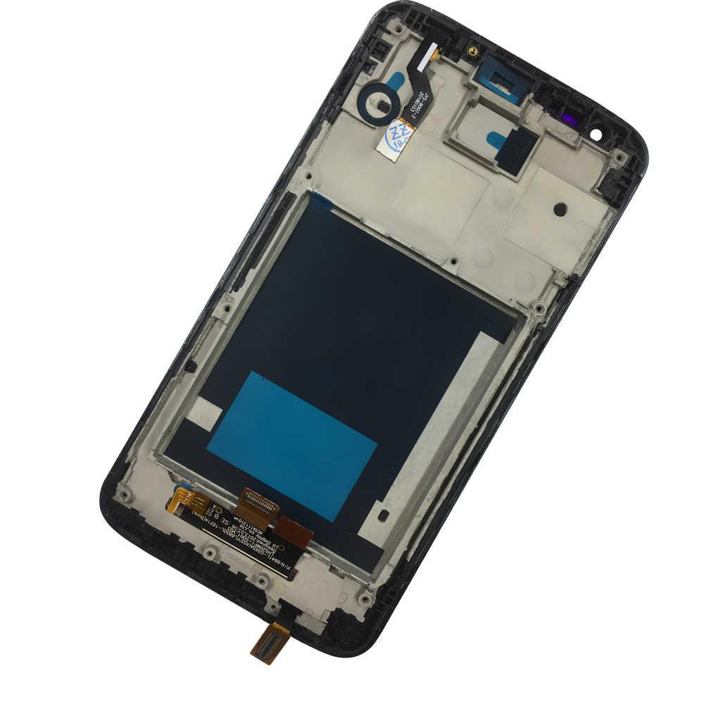 100% اختبار قطع غيار جديدة شاشات الكريستال السائل عرض ل LG G2 D800 D801 D805 D803 D802 مع الإطار LCD مجموعة المحولات الرقمية لشاشة تعمل بلمس