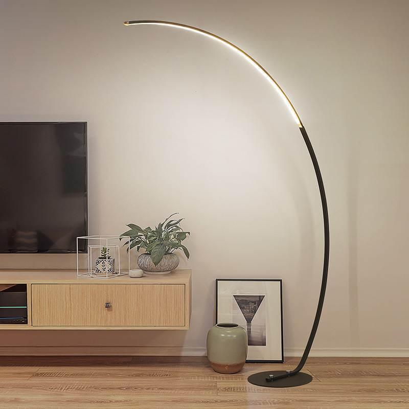 Işıklar ve Aydınlatma'ten Zemin Lambaları'de Yaratıcı alüminyum zemin lambası oturma odası yatak odası için ayakta lamba dekor zemin ışık LED ışık AC85 265V çalışma odası ışık title=