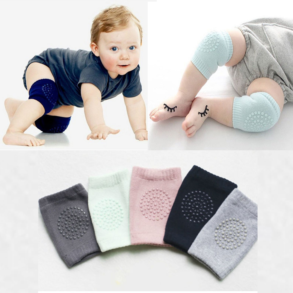 1 Pair Baby Knee Pads Crawling Safety Kids Crawling Elbow Cushion Baby Leg Warmers Infants Knee Gaiters Protector For Children