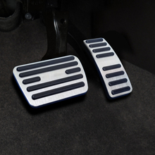 For  Mazda 5 car pedal gas foot rest stainless modified pad non slip performance aluminium fuel
