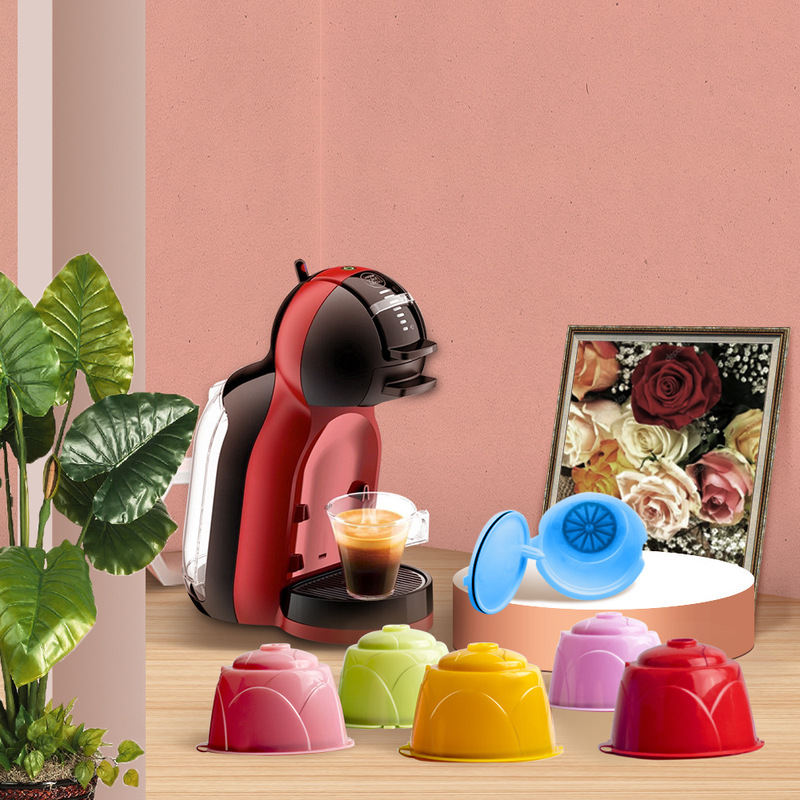 New Plastic Reusable Refillable Coffee Filter Capsule Cup For Dolce Gusto Machines Cafe Kitchen Gadgets Coffee Machine Filter