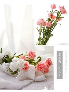 Image 4 - INS Style Artificial Vintage rosa Mesa decoración flores para cosméticos vino foto de fondo fotografía foto