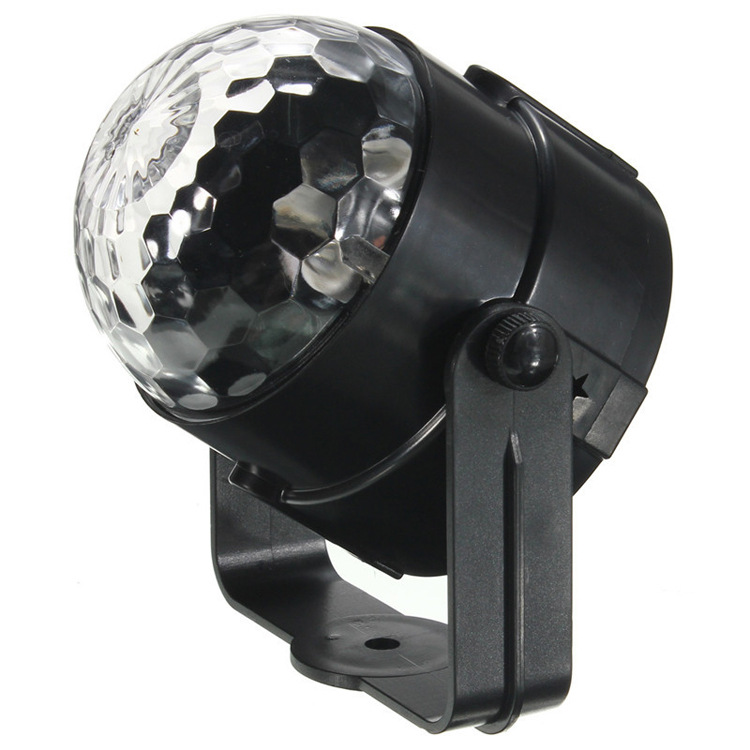 LED Voice Xiao Mo Qiu Three-Color Magic Ball Self-Propelled Strobe Voice KTV Small Box Family Party Only