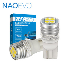 цена на NAOEVO T10 W5W 1.9W Super Bright 4 3030 SMD 5W5 LED Blub 12V Halogen Yellow For Auto Light Car Styling White 194 Clearance Lamp