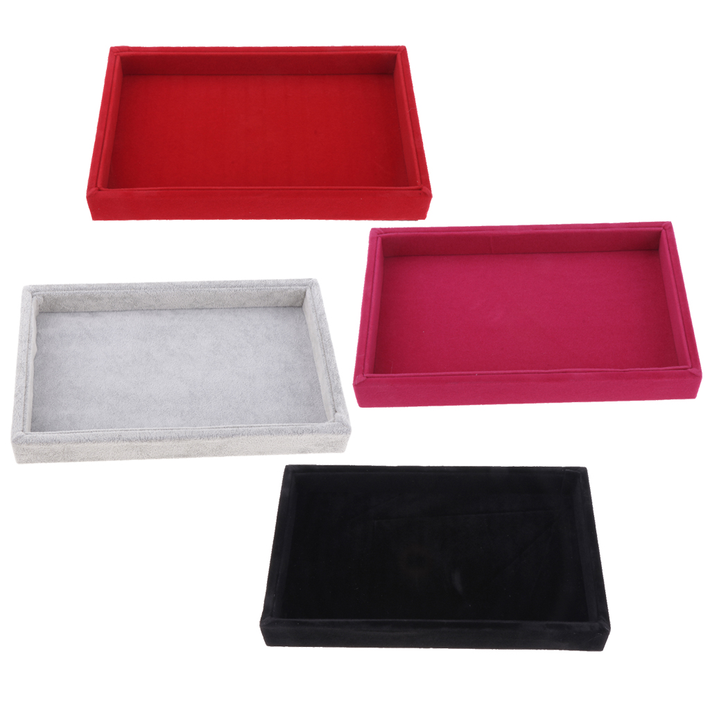 Velvet Necklace Bracelet Earring Anklet Jewelry Display Tray Case Organizer For Jewelry Store Home Use