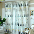 Nordic Pattern Cartoon Christmas Tree Printed Blackout Curtain for Living Room Bedroom Office Decorative Drapes|Curtains| |  -