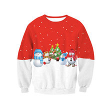 2019 Ugly Christmas Sweater Santa Claus Printed Loose Men Women Pullover Novelty Autumn Winter Tops Clothing
