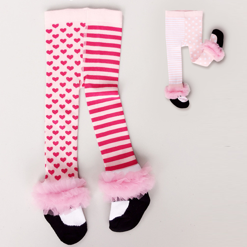Baby Girl Tights Newborn Tights Cotton Lace Bows Newborn Tights Princess Girls Winter Stockings Tights Pantyhose Kids Hosiery