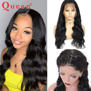 "360 Lace Frontal Wig Brazilian Remy Body Wave Wigs 10-26"" Human Hair Wigs For Black Women Pre Plucked With Baby Hair Queen Hair"