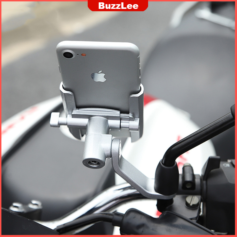 360 Degree Aluminum Alloy Cycling Stand Bracket Adjustable Bike Bicycle Handlebar Mount Motorcycle RearView Mirror Phone Holder