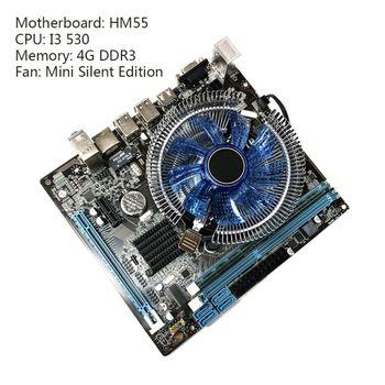 1Set HM55 Computer Motherboard I3 I5 Lga 1156 4G Memory Fan Desktop Mainboard X6HA ytai k42jr rev2 0 hm55 mianboard for asus k42jr a42j k42j x42j laptop motherboard rev2 0 hm55 ddr3 mainboard free shipping