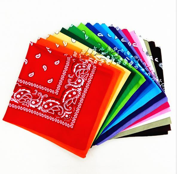 Cheap Vintage Square Handkerchief Geometric Print Cotton Head Wrap Neck Scarf Wristband Handkerchief Pocket Towel