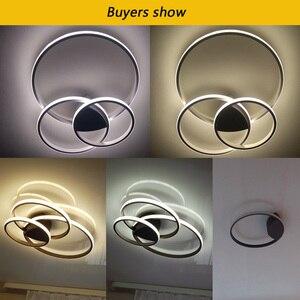 Image 5 - Светодиодная потолочная лампа для гостиной, спальни, кабинета, Декор для дома, Современная потолочная лампа с креплением на поверхность белого/кофе