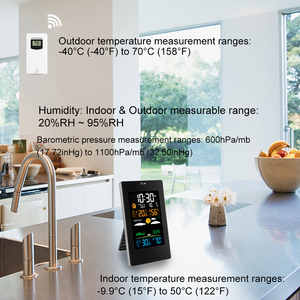 Image 3 - Weather Station Barometer Hygrometer Thermometer Digital Color Display Indoor Outdoor Wireless Forecast Wall Table Alarm Clock