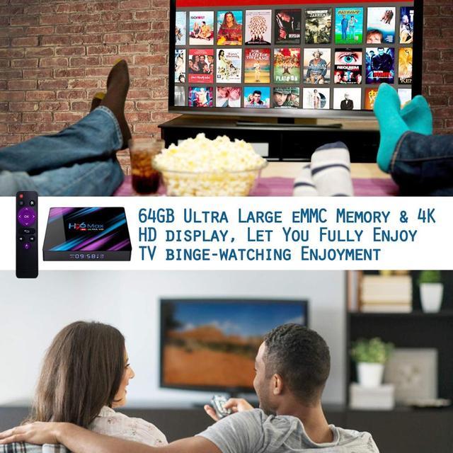 H96MAX z IPTV europa 12 miesięcy Adroid 9.0 Smart TV BOX Rockchip RK3318 H.265 4K Google odtwarzacz multimedialny H96 MAX dekoder PK