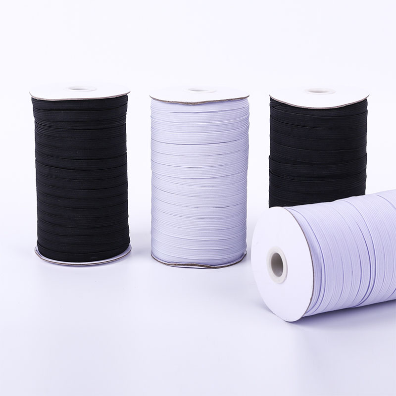 Mask Elastic Bands Rope 3/6/8/10/12/15/20/30/35/40mm Black White Polyester Elastic Cord for Clothes Garment Sewing Accessories