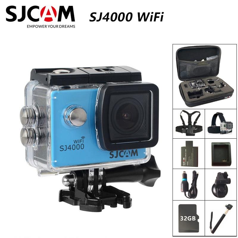 Caméra d'action WiFi SJCAM SJ4000 originale 2.0 pouces écran LCD 1080P HD plongée 30M étanche mini caméscope SJ 4000 Cam Sports DV