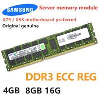 SAMSUNG ECC REG 16GB 8GB 4GB DDR3 2RX4 PC3-10600R 12800R 14900R 1866Mhz 1600Mhz 1333Mhz PC servidor RAM memoria 16G 8G 4G X79 X58
