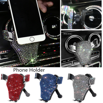 Bling Phone Holder for Car Vent Mount Air Outlet Cradle Compatible With iPhone XS Max XR X 8 8+ 7 7+ SE 6s 6+ 6 5s 4 Samsung