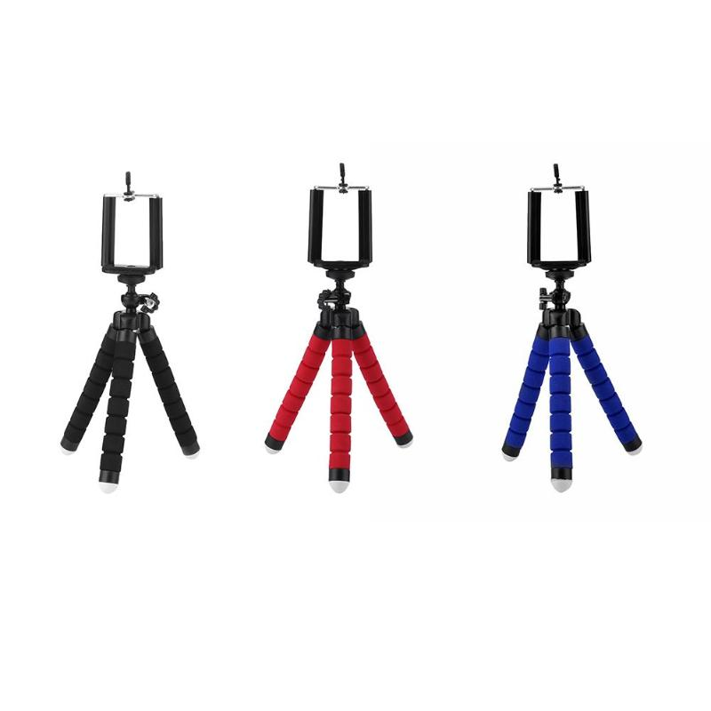 Flexible Octopus Phone Holder Tripod Bracket Monopod Stand With Phone Clip
