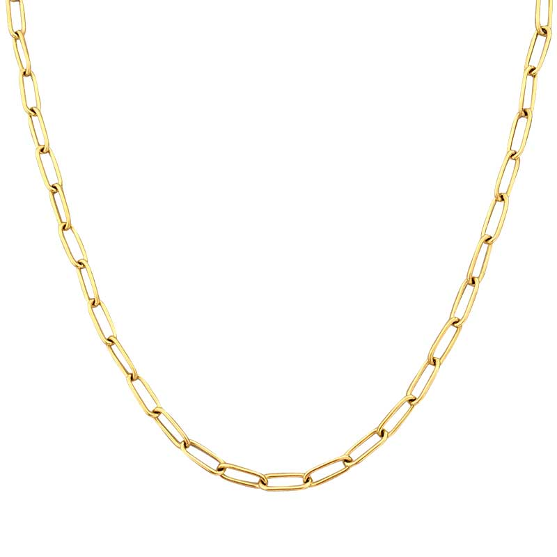 Peri'sBox 4 Sizes Linked Chain Necklaces Gold Color Circle Choker Necklaces for Women Minimalist Necklace Vintage Jewelry