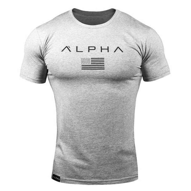 2019 nowy marka odzież siłownie mocno koszulka męska Fitness koszulka Homme siłownie T-shirt mężczyźni Fitness lato Top