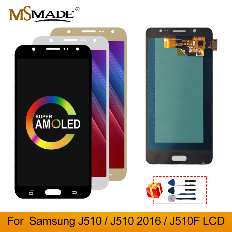 Super AMOLED For Samsung Galaxy J5 2016 J510 LCD <font><b>Display</b></font> Touch Screen Digitizer Assembly For <font><b>J510FN</b></font> J510F J510G J510Y J510M LCD image