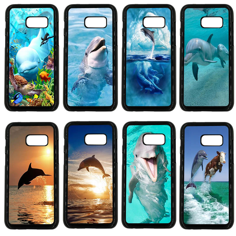 Hard PC Cover Ocean Dolphin Dance And Jumping <font><b>Phone</b></font> <font><b>Cases</b></font> for <font><b>Samsung</b></font> Galaxy A3 <font><b>A5</b></font> A7 A8 2015 <font><b>2016</b></font> 2017 2018 Note 8 5 3 2 Shell image